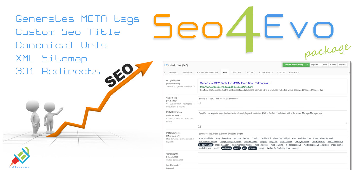 Seo4Evo - SEO Tools for MODx Evolution | Tattoocms it