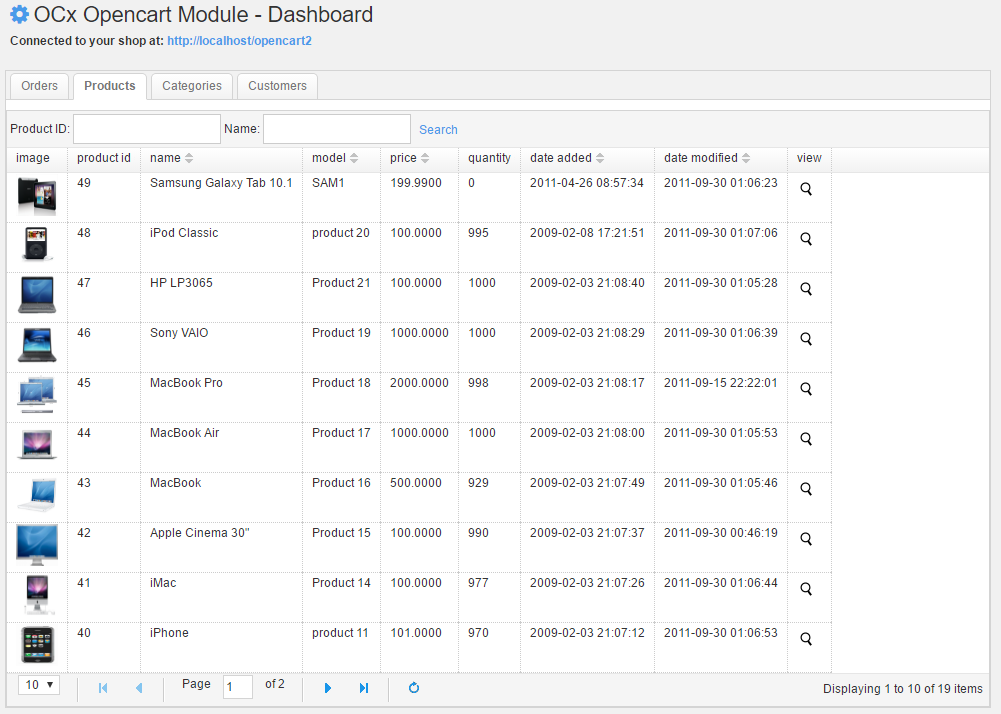 snippet+module] OCx Display Opencart products and categories in MODX